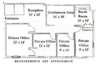 83 Princeton Avenue:  Office Condo For Sale- 5 windowed offices